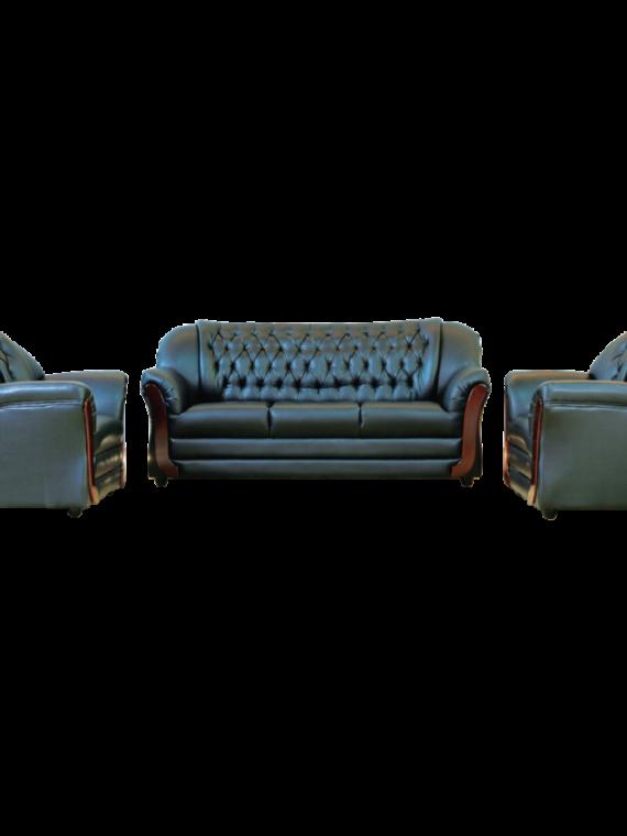 Asharee Classic-Guido Sofa Set Brown Sofa Set 3+1+1