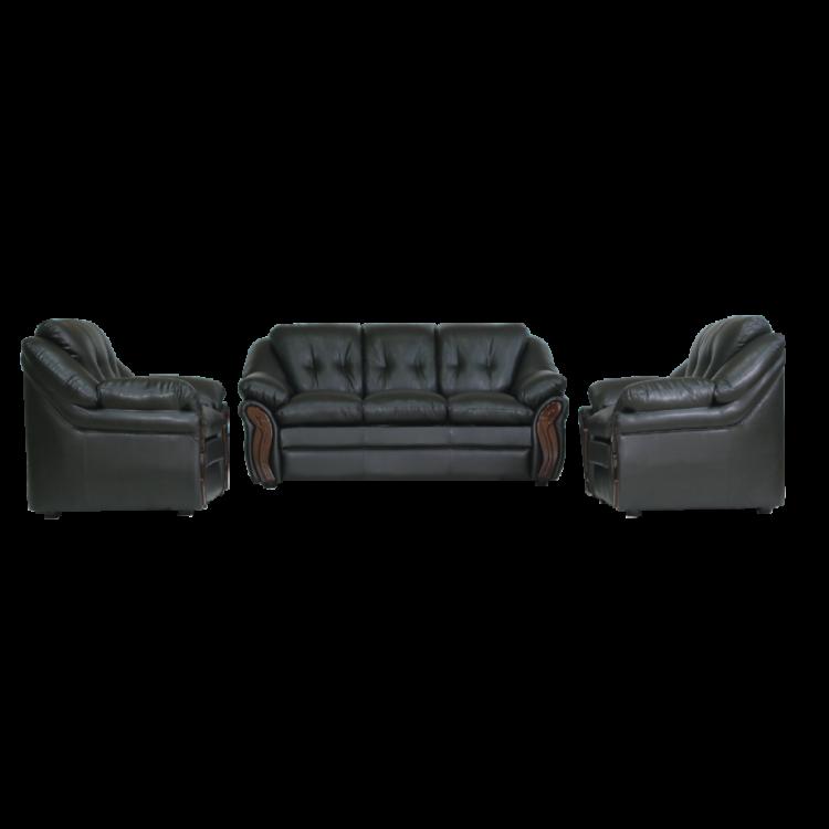 Asharee Elegant-Cosmo Sofa set Black Sofa set 3+1+1